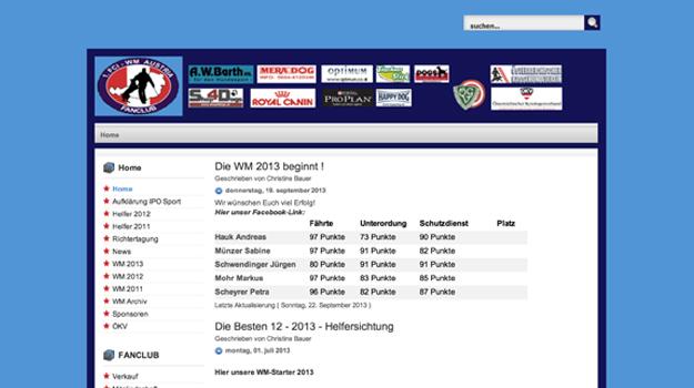 Website vom FCI WM Austria Fanclub