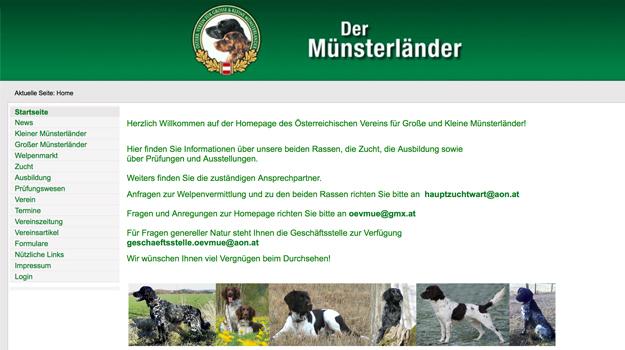 Website der Münsterländer